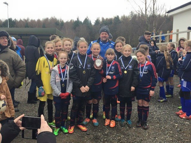 Wickersley Youth Junior Football Club Under 11 Girls win league shield
