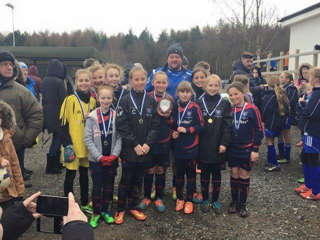 Wickersley Youth Junior Football Club Under 11 Girls win league shield