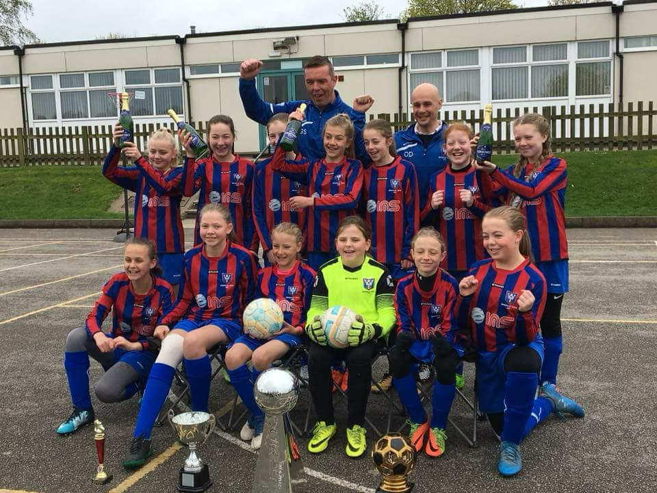 Wickersley Youth U12s Girls Make History in winning the league