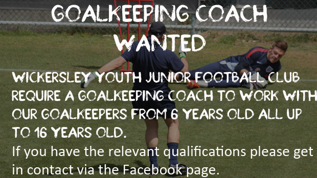 Wickersley Youth Football Club looking for Goalkeeper Coach