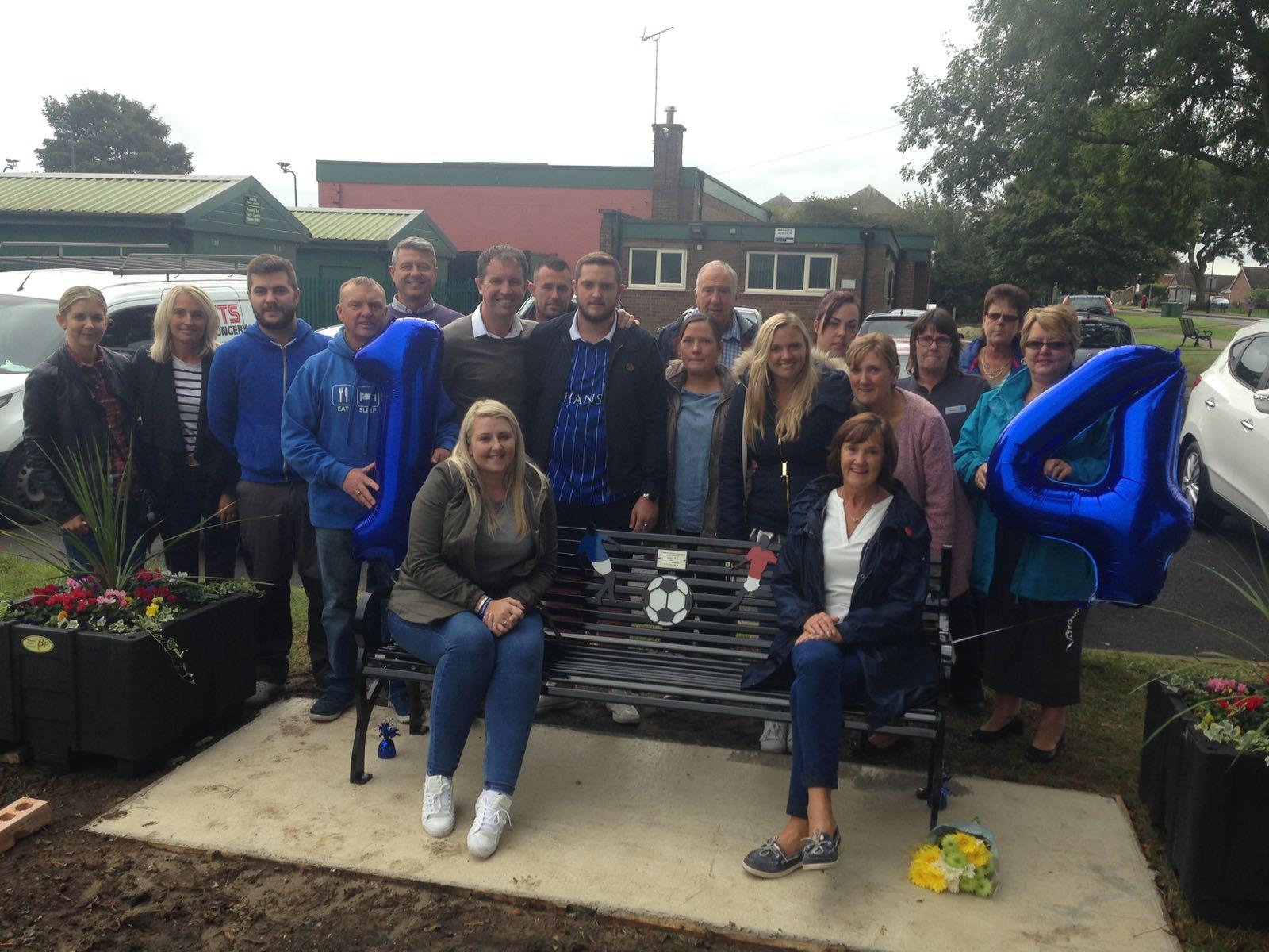 Wickersley Youth donation to Tom Bothamley Memory bench