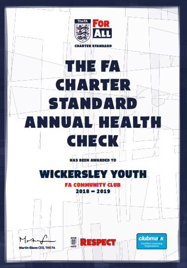 Wickersley Youth achieves FA Charter Standard again